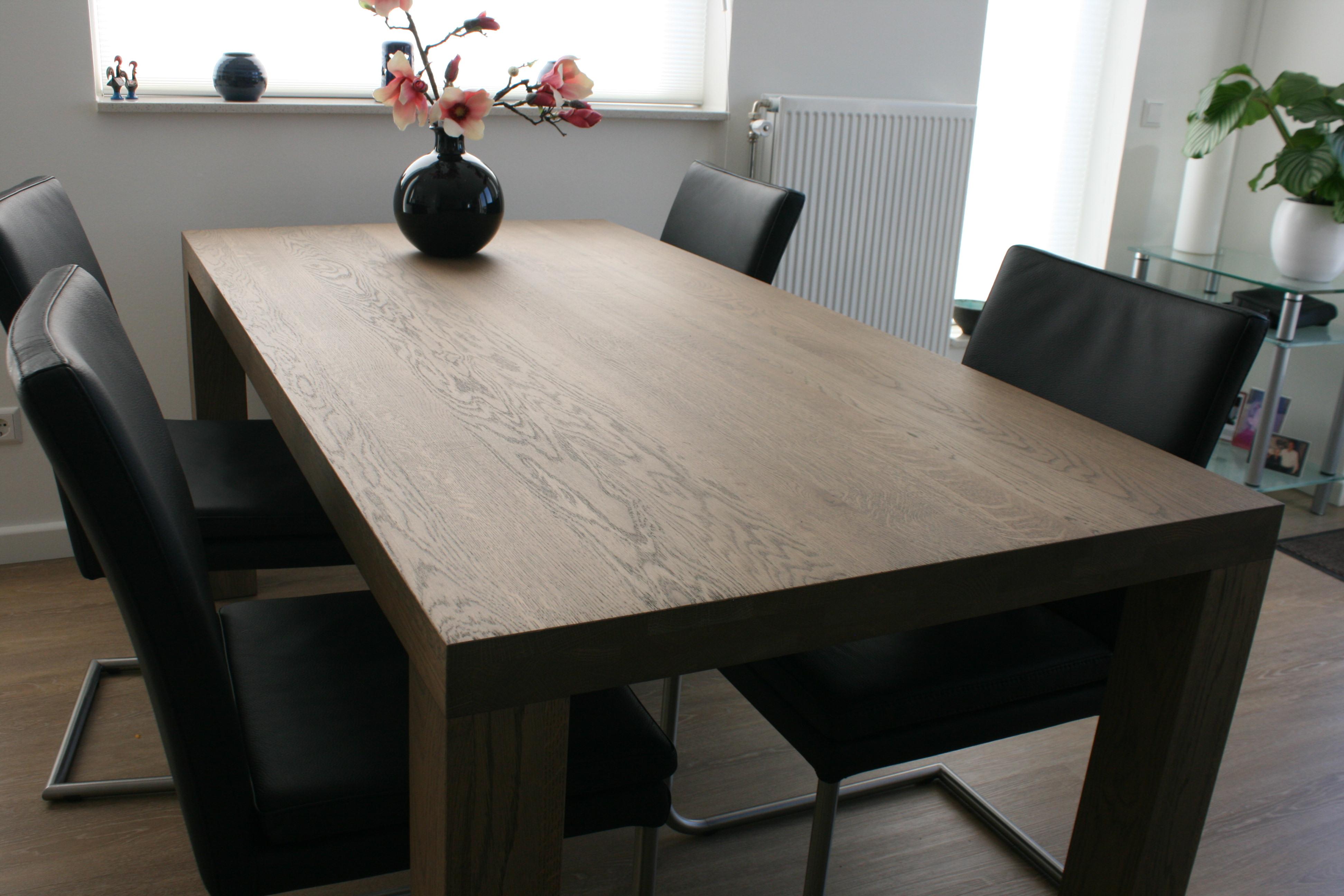 Tafels op maat meubelmakerij dw meubel ameide for Tafel op maat